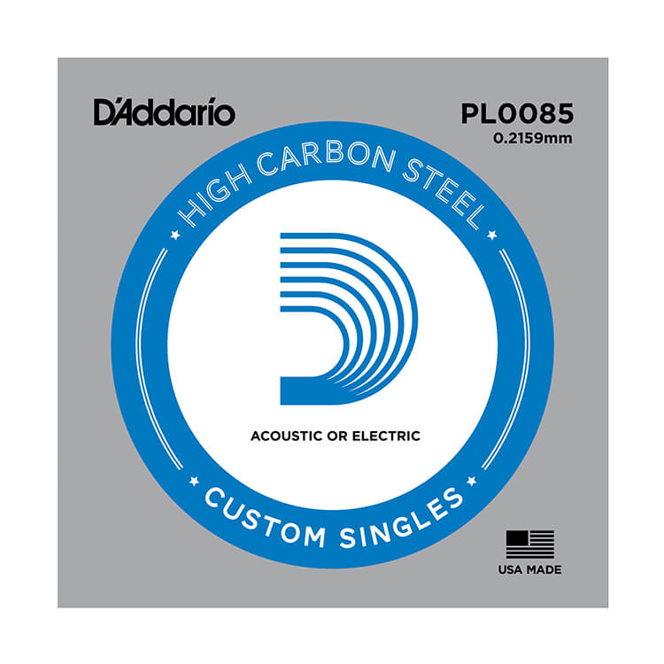 D'Addario Plain Steel Single Acoustic / Electric Guitar String .0085p