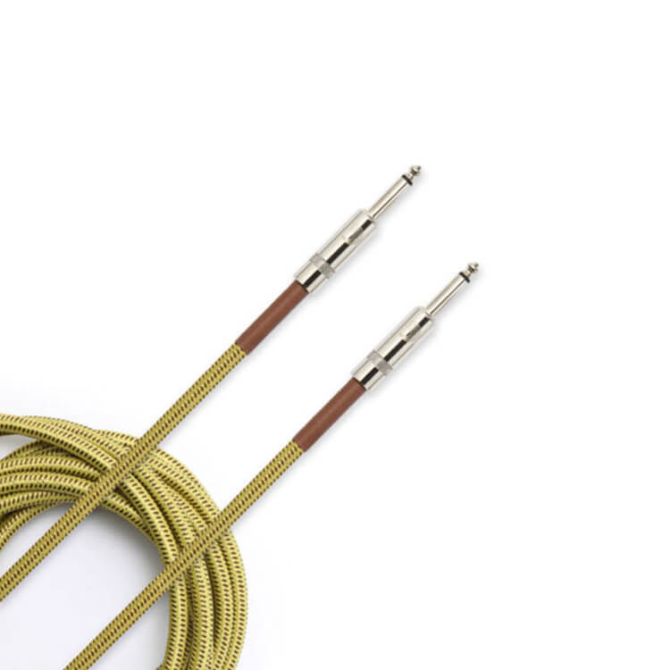 D'Addario PW-BG-15TW 15 Foot Tweed Braided Instrument Cable