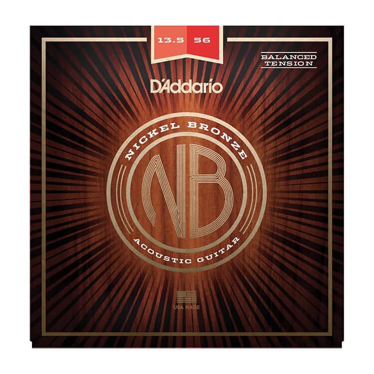 d 39 addario nickel bronze wound acoustic guitar string set 13 5 56 balanced tension medium nb13556bt. Black Bedroom Furniture Sets. Home Design Ideas