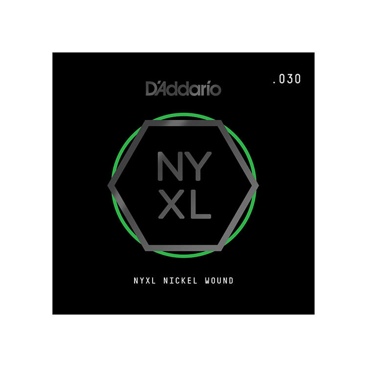 D'Addario NYXL Nickel Wound Single Electric Guitar String .030w