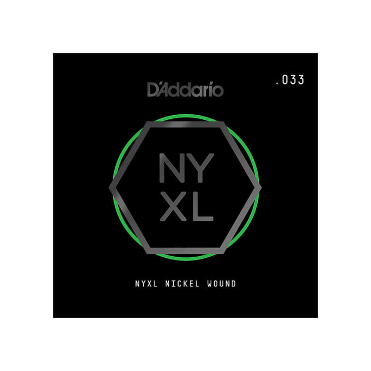 D'Addario NYXL Nickel Wound Single Electric Guitar String .033w