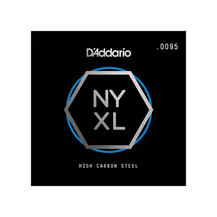D'Addario NYXL High Carbon Plain Steel Single Electric Guitar String .0095p