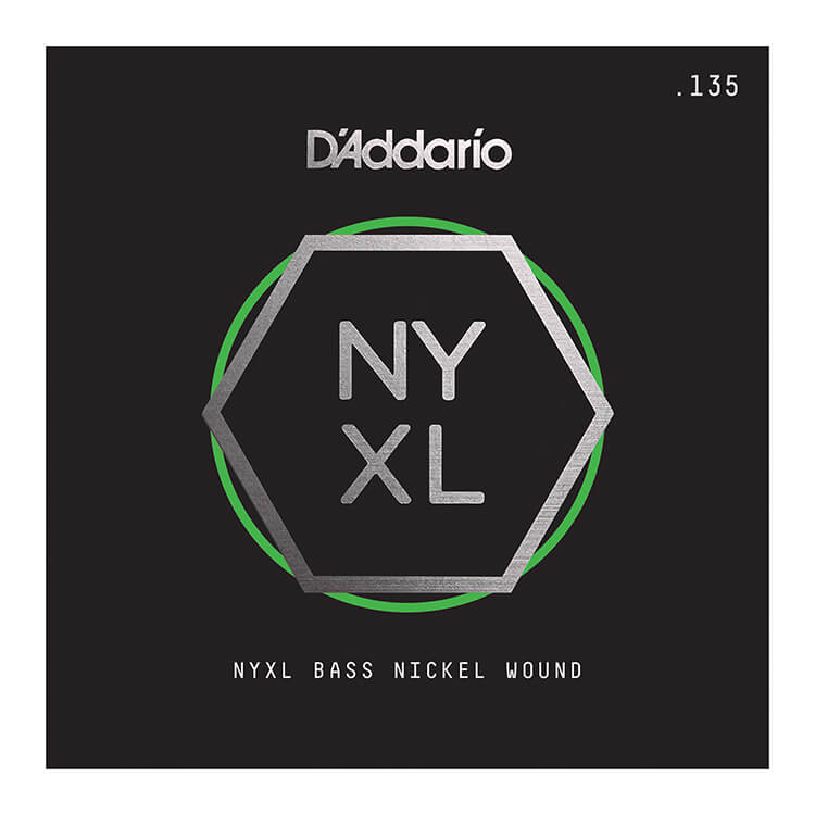 D'Addario NYXL Nickel Wound Single String Long Scale - .135T Tapered B-String