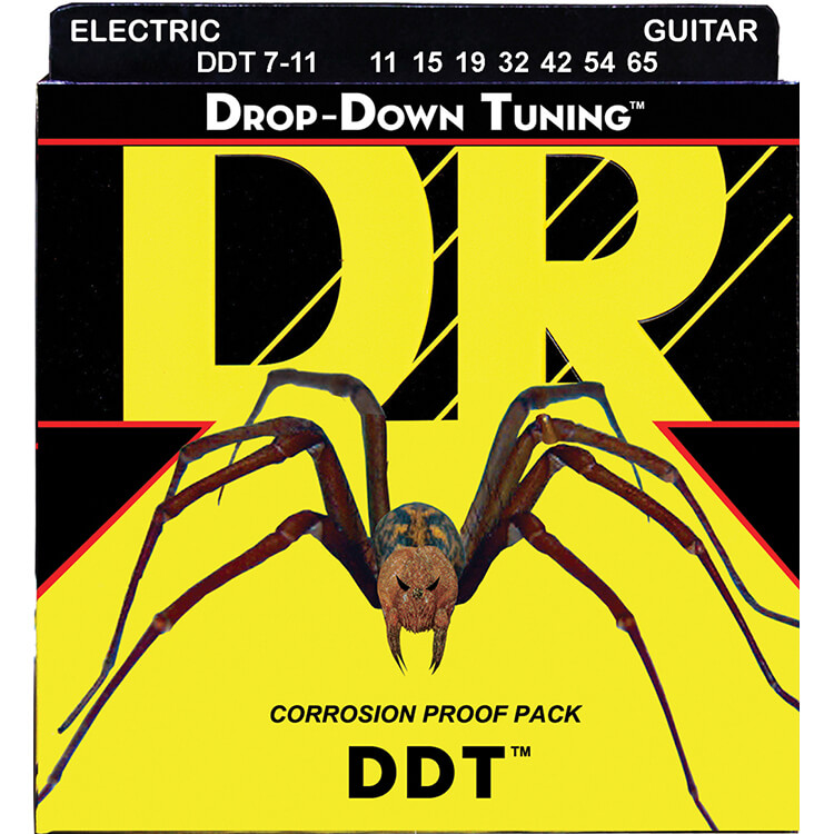 DR DDT Drop Down Tuning Electric Guitar String Set - 11-65 7-String Extra Heavy DDT7-11