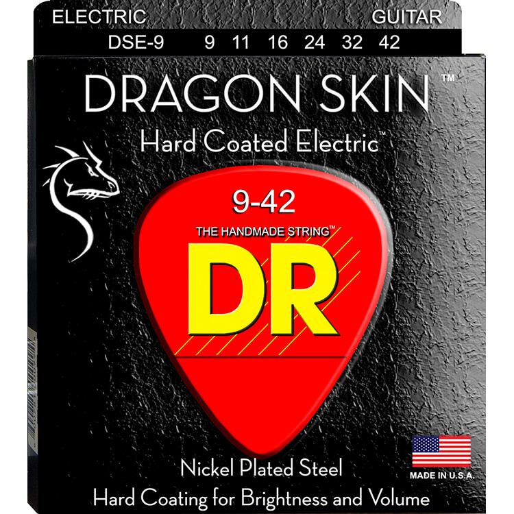 DR Dragon Skin K3 Clear Coated Electric Guitar String Set - 09-42 Light DSE-9