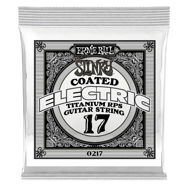 Ernie Ball Slinky Coated Titanium Reinforced Plain Steel Single Guitar String .017p