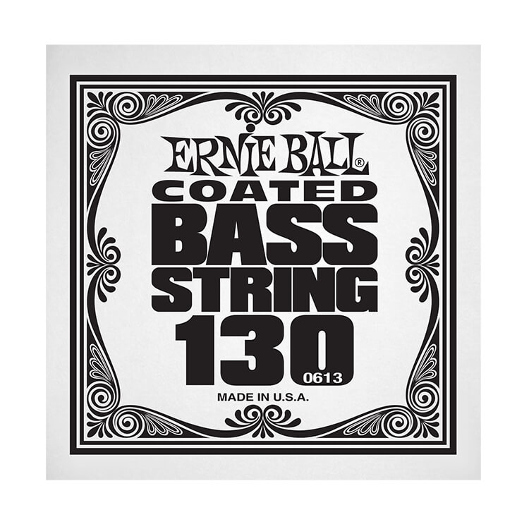 Ernie Ball Coated Nickel Wound Electric Bass Single String - Long Scale .130