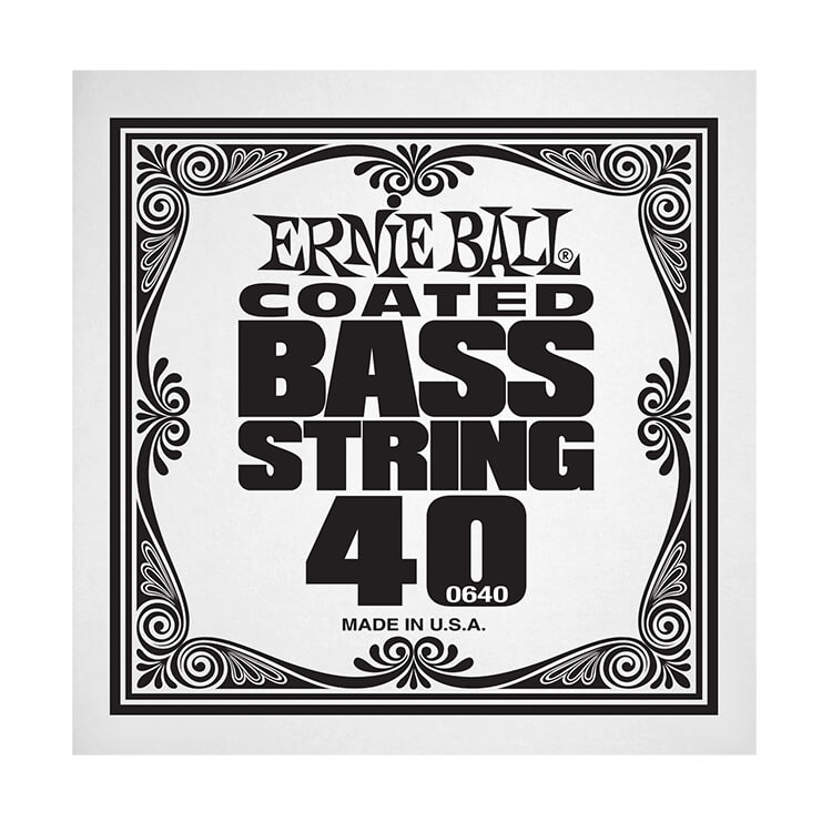 Ernie Ball Coated Nickel Wound Electric Bass Single String - Long Scale .040