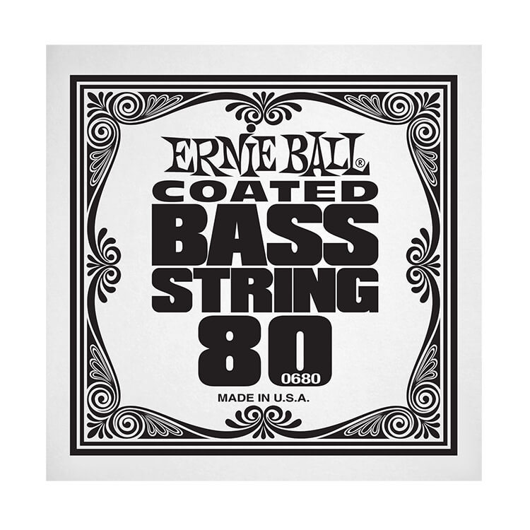 Ernie Ball Coated Nickel Wound Electric Bass Single String - Long Scale .080