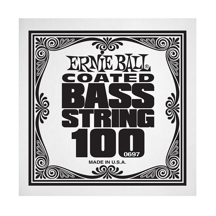 Ernie Ball Coated Nickel Wound Electric Bass Single String - Long Scale .100