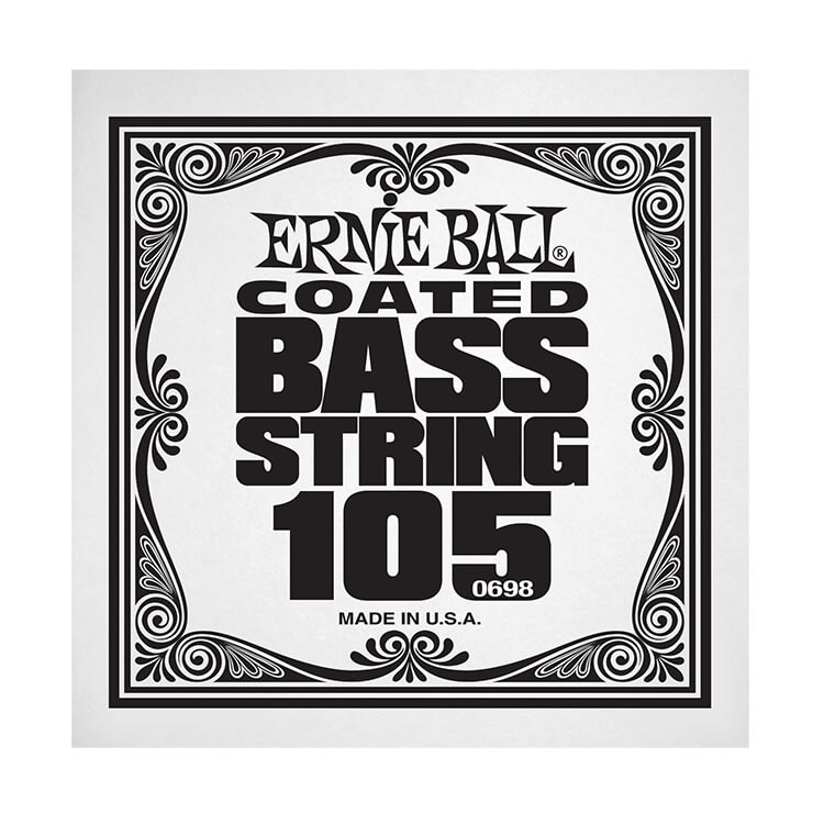 Ernie Ball Coated Nickel Wound Electric Bass Single String - Long Scale .105