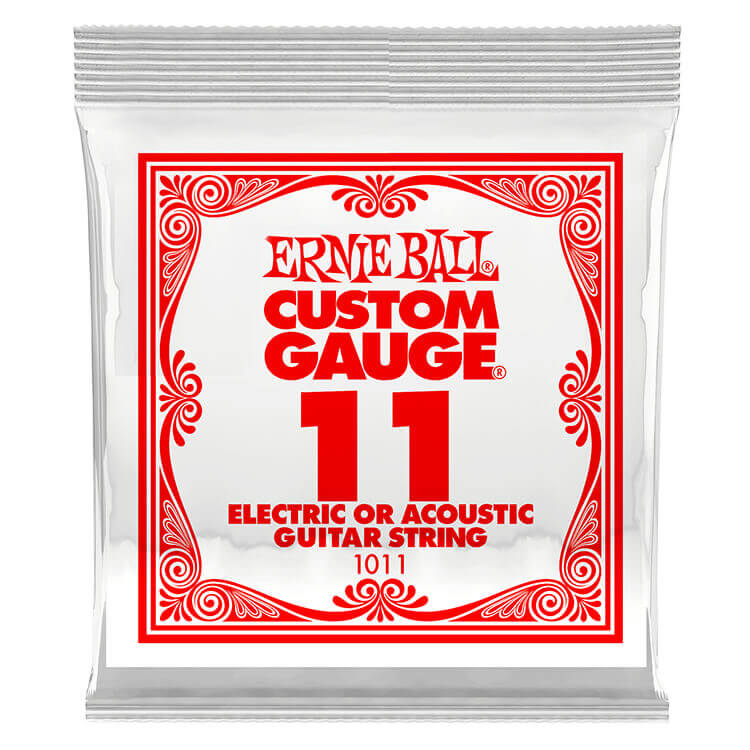 Ernie Ball Plain Steel Single Guitar String Electric or Acoustic .011p