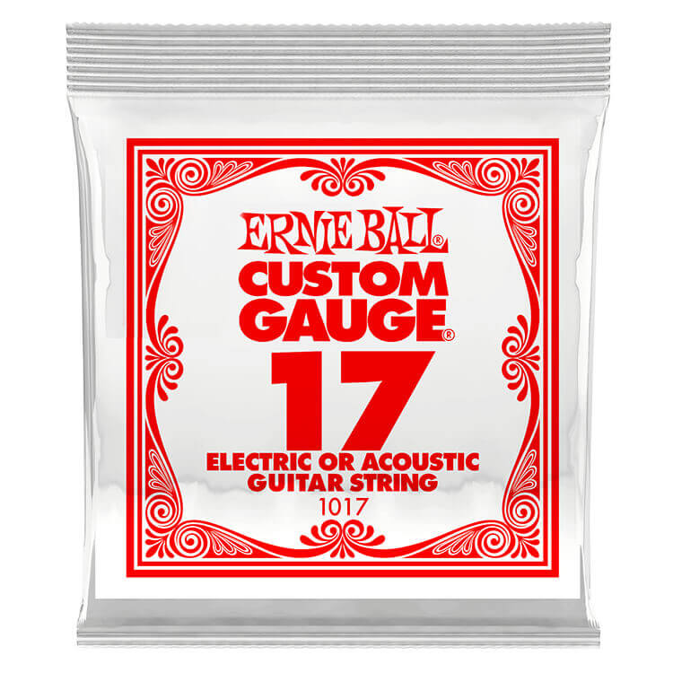 Ernie Ball Plain Steel Single Guitar String Electric or Acoustic .017p