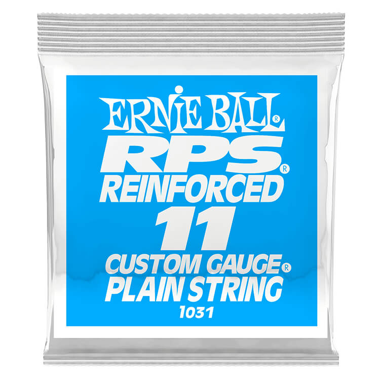 Ernie Ball RPS Reinforced Plain Steel Single Guitar String .011p