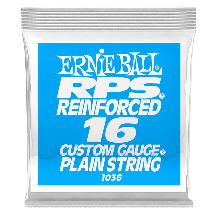 Ernie Ball RPS Reinforced Plain Steel Single Guitar String .016p