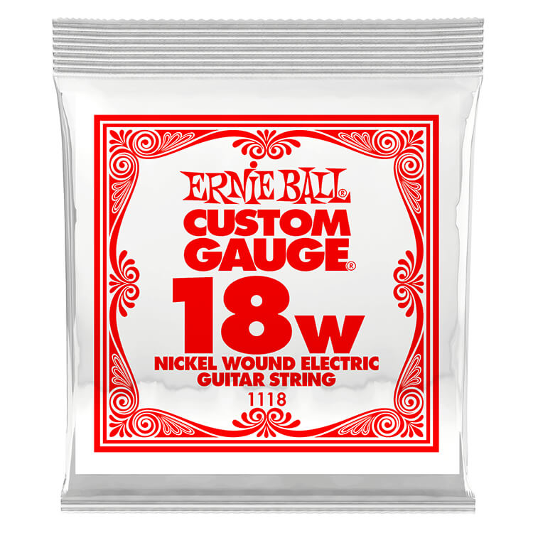 Ernie Ball Nickel Wound Single Electric Guitar String .018w