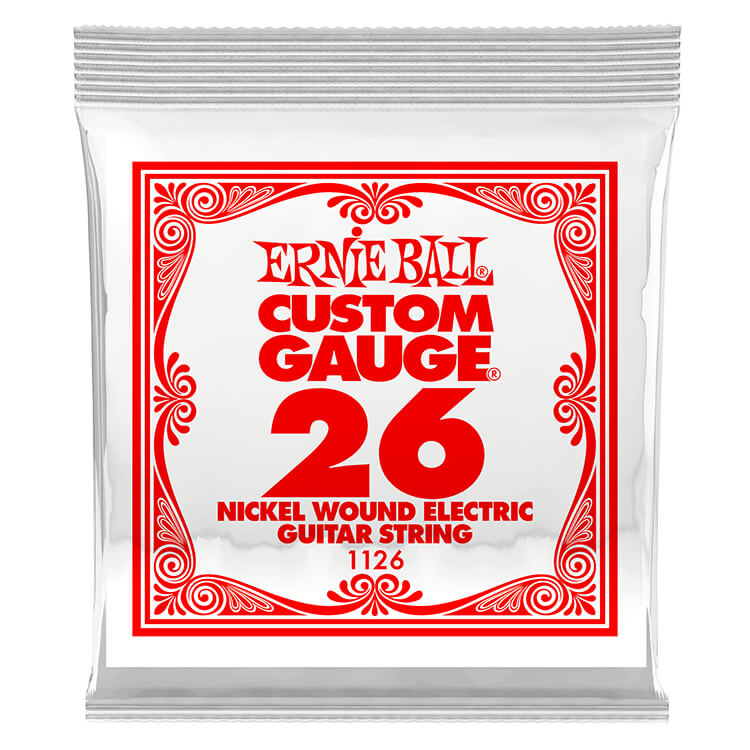 Ernie Ball Nickel Wound Single Electric Guitar String .026w