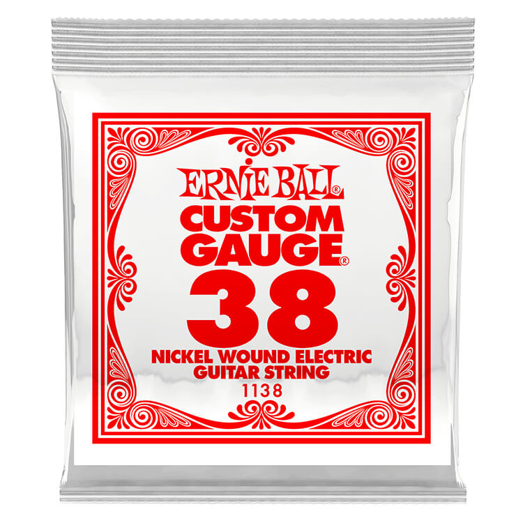 Ernie Ball Nickel Wound Single Electric Guitar String .038w