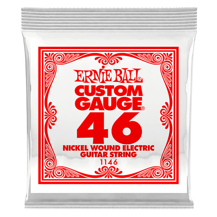 Ernie Ball Nickel Wound Single Electric Guitar String .046w