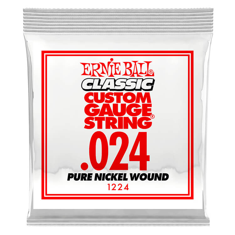 Ernie Ball Pure Nickel Wound Single Electric Guitar String .024w