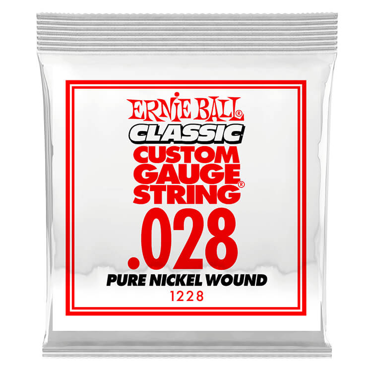 Ernie Ball Pure Nickel Wound Single Electric Guitar String .028w
