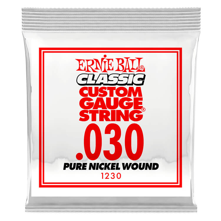 Ernie Ball Pure Nickel Wound Single Electric Guitar String .030w
