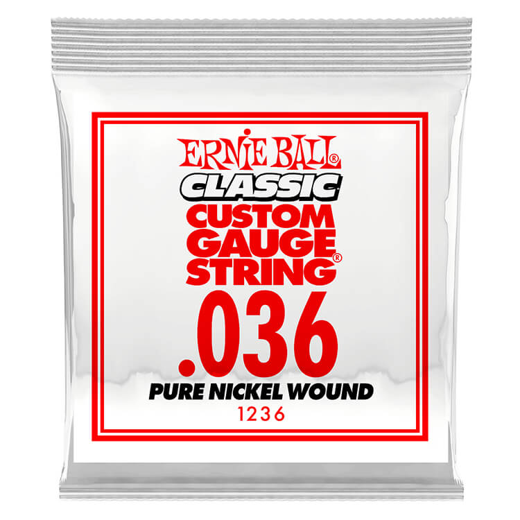 Ernie Ball Pure Nickel Wound Single Electric Guitar String .036w