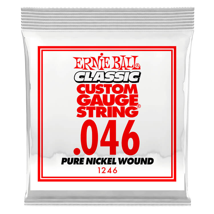 Ernie Ball Pure Nickel Wound Single Electric Guitar String .046w
