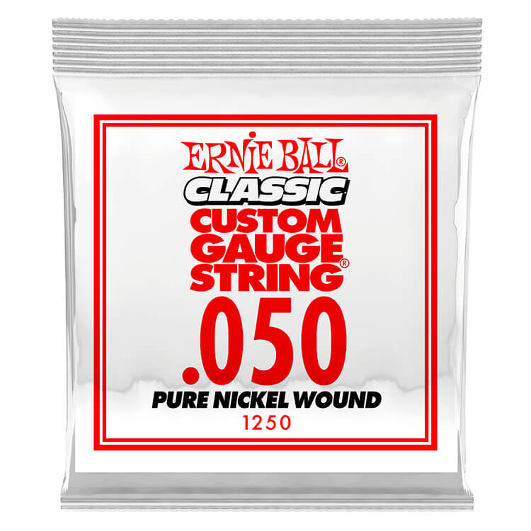 Ernie Ball Pure Nickel Wound Single Electric Guitar String .050w
