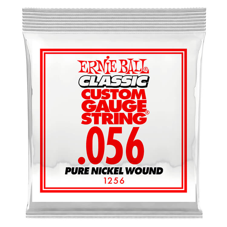 Ernie Ball Pure Nickel Wound Single Electric Guitar String .056w