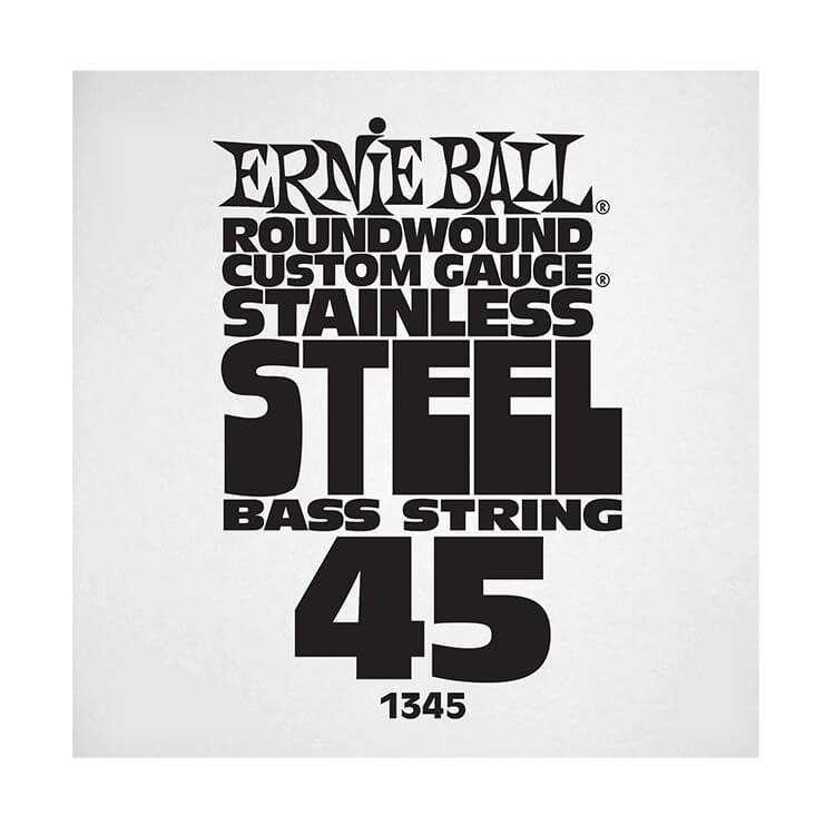 Ernie Ball Stainless Steel Round Wound Electric Bass Single String - Long Scale .045