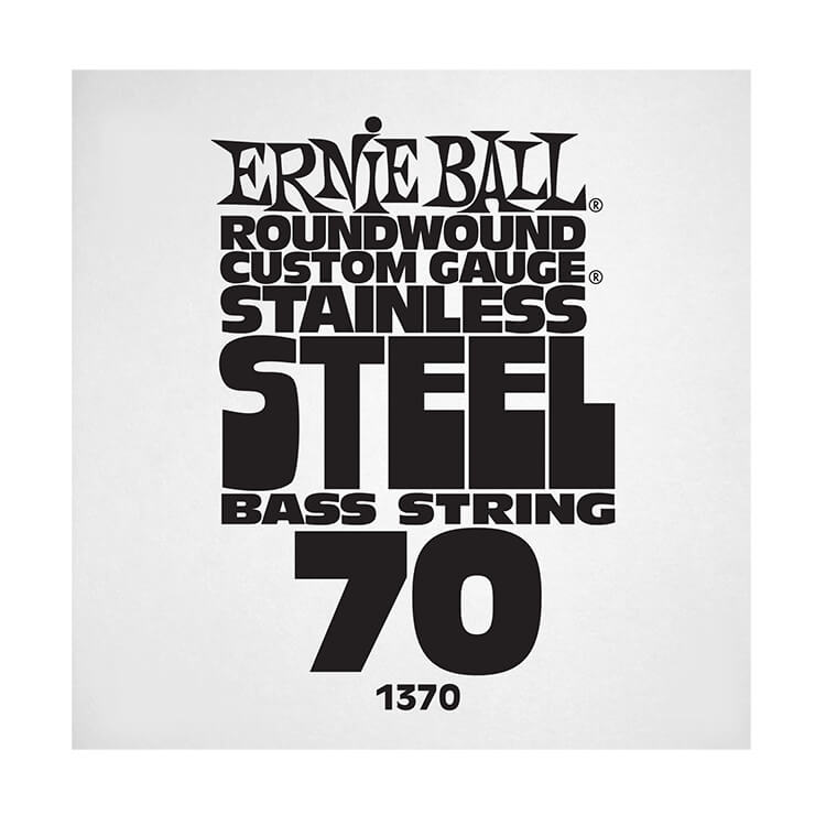 Ernie Ball Stainless Steel Round Wound Electric Bass Single String - Long Scale .070