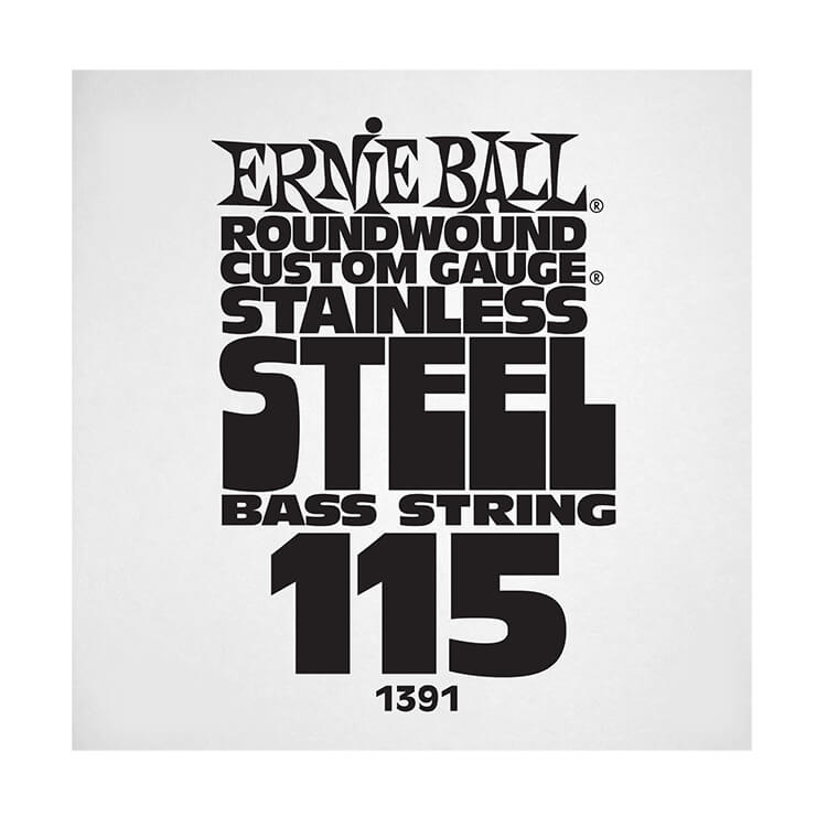 Ernie Ball Stainless Steel Round Wound Electric Bass Single String - Long Scale .115