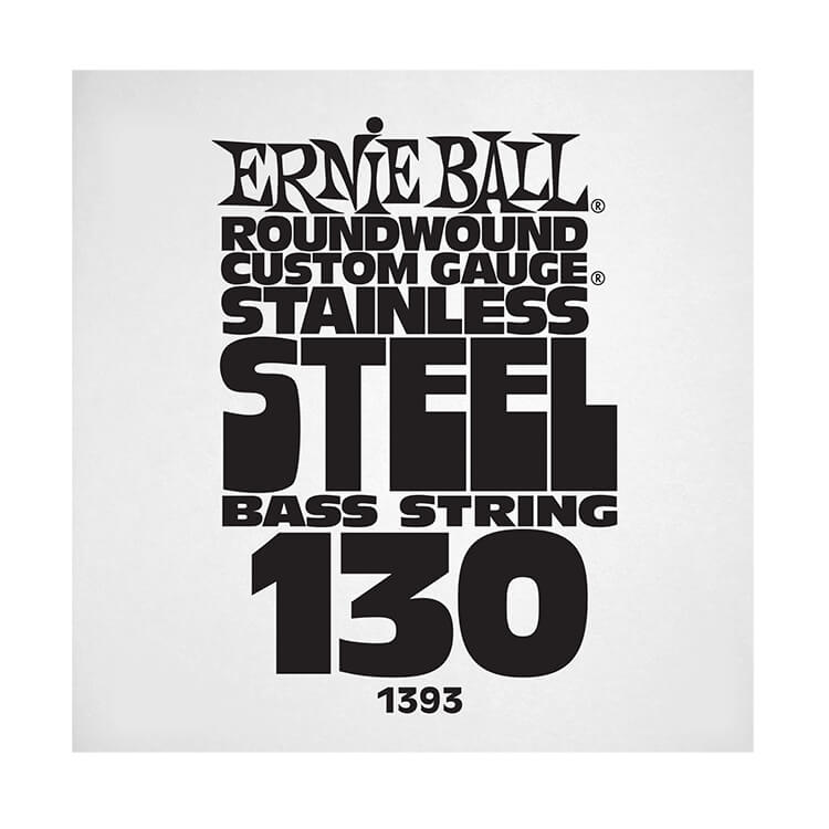 Ernie Ball Stainless Steel Round Wound Electric Bass Single String - Long Scale .130