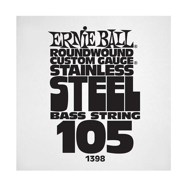 Ernie Ball Stainless Steel Round Wound Electric Bass Single String - Long Scale .105
