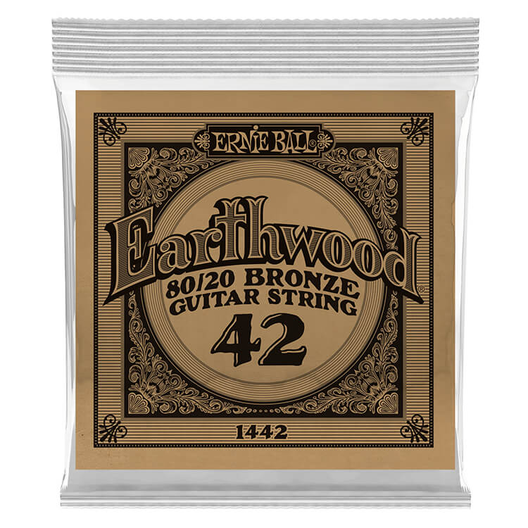 Ernie Ball Earthwood 80/20 Bronze Acoustic Guitar Single String .042