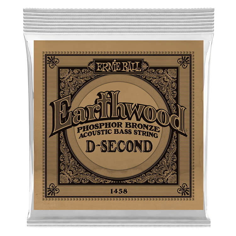 Ernie Ball Earthwood Phosphor Bronze Acoustic Bass Guitar Single String - Long Scale .055
