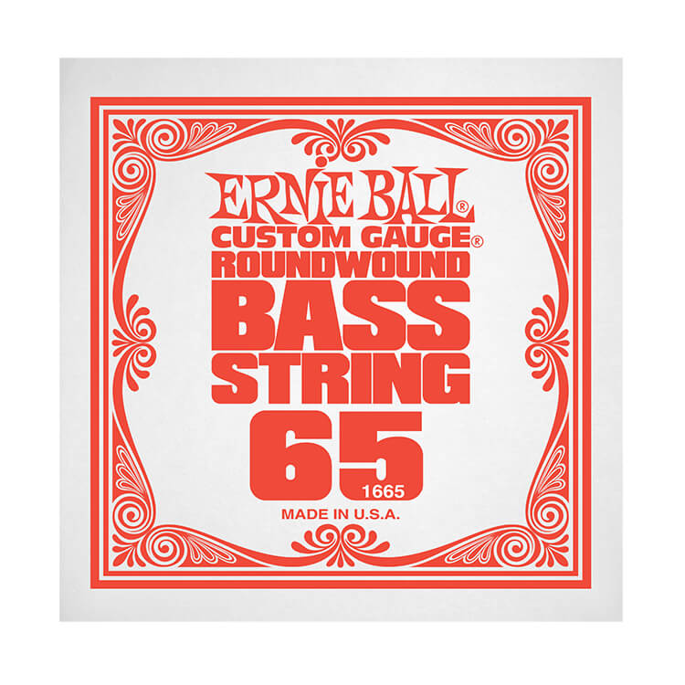 Ernie Ball Nickel Wound Slinky Electric Bass Single String - Long Scale .065