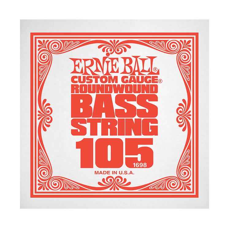 Ernie Ball Nickel Wound Slinky Electric Bass Single String - Long Scale .105