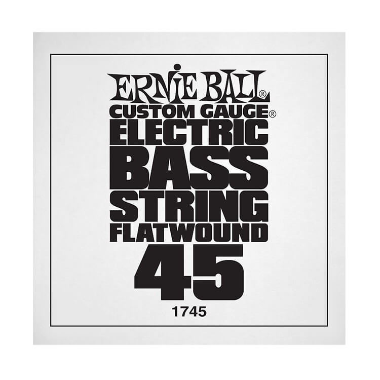 Ernie Ball Flatwound Electric Bass Single String - Long Scale .045