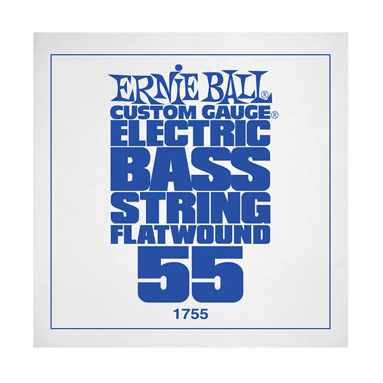 Ernie Ball Flatwound Electric Bass Single String - Long Scale .055
