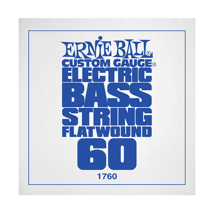 Ernie Ball Flatwound Electric Bass Single String - Long Scale .060