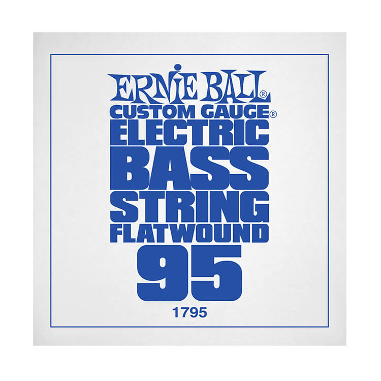 Ernie Ball Flatwound Electric Bass Single String - Long Scale .095