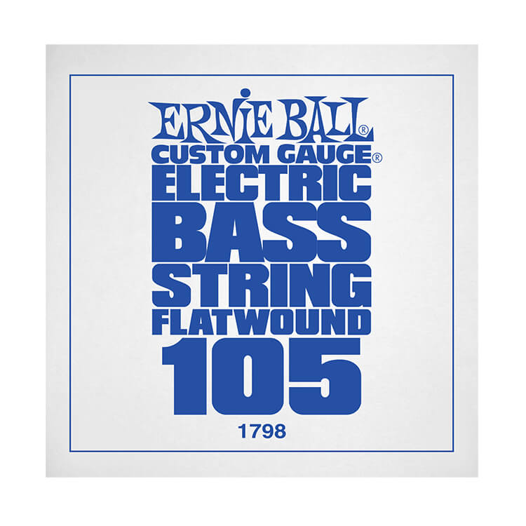 Ernie Ball Flatwound Electric Bass Single String - Long Scale .105