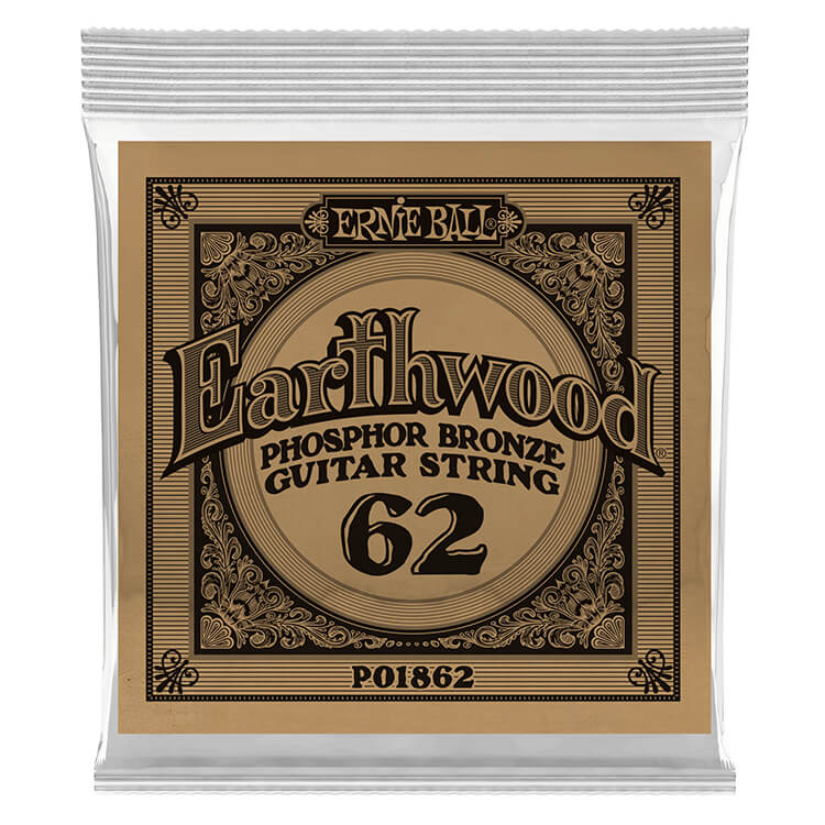 Ernie Ball Earthwood Phosphor Bronze Acoustic Guitar Single String .062