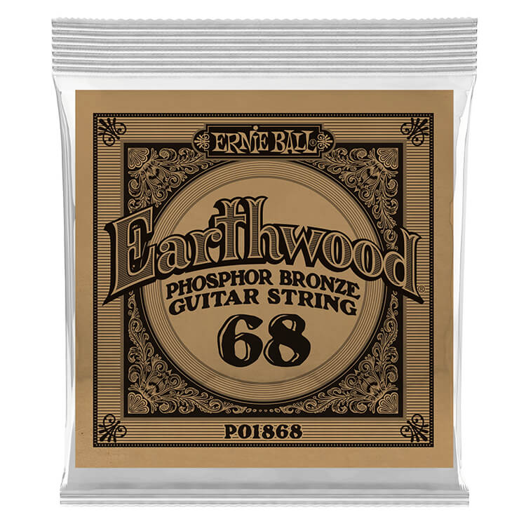 Ernie Ball Earthwood Phosphor Bronze Acoustic Guitar Single String .068