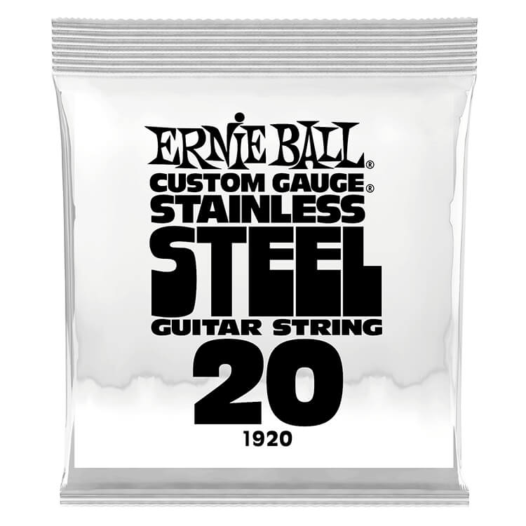 Ernie Ball Stainless Steel Wound Single Electric Guitar String .020w