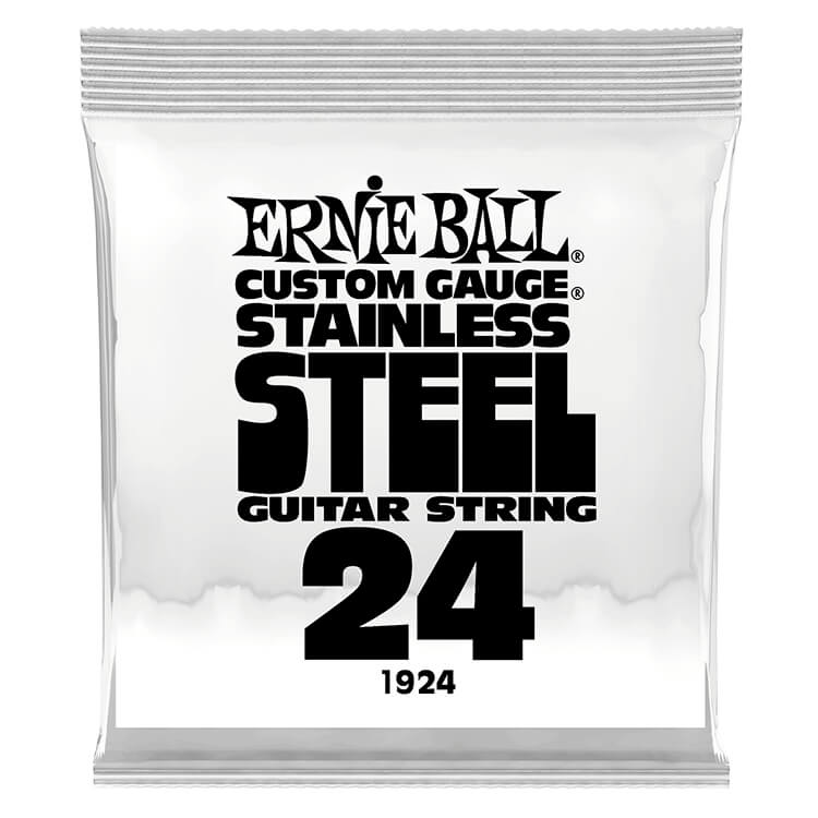 Ernie Ball Stainless Steel Wound Single Electric Guitar String .024w