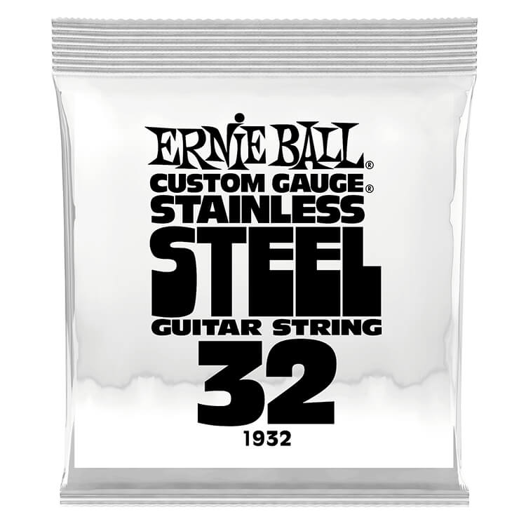 Ernie Ball Stainless Steel Wound Single Electric Guitar String .032