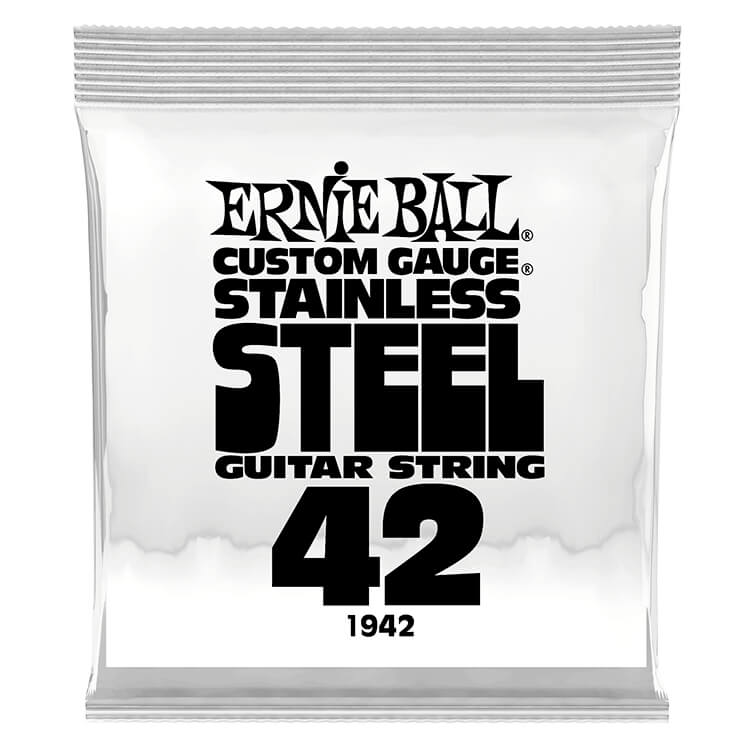 Ernie Ball Stainless Steel Wound Single Electric Guitar String .042